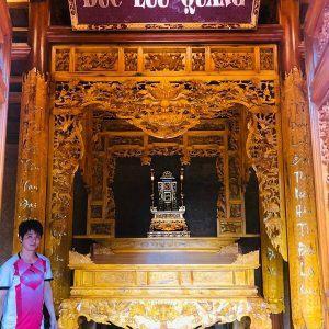 Gian thờ gỗ mít nhà thờ 4 cột
