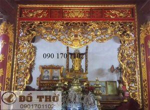 Mẫu cửa võng đẹp thếp vàng, thếp bạc - Đồ thờ Sơn Đồng