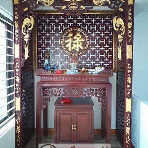 Thiết kế phòng thờ diện tích hẹp đảm bảo thẩm mỹ