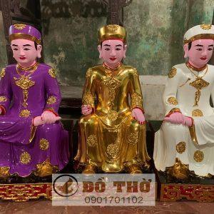 Tượng 3 ông Hoàng ngồi song thất