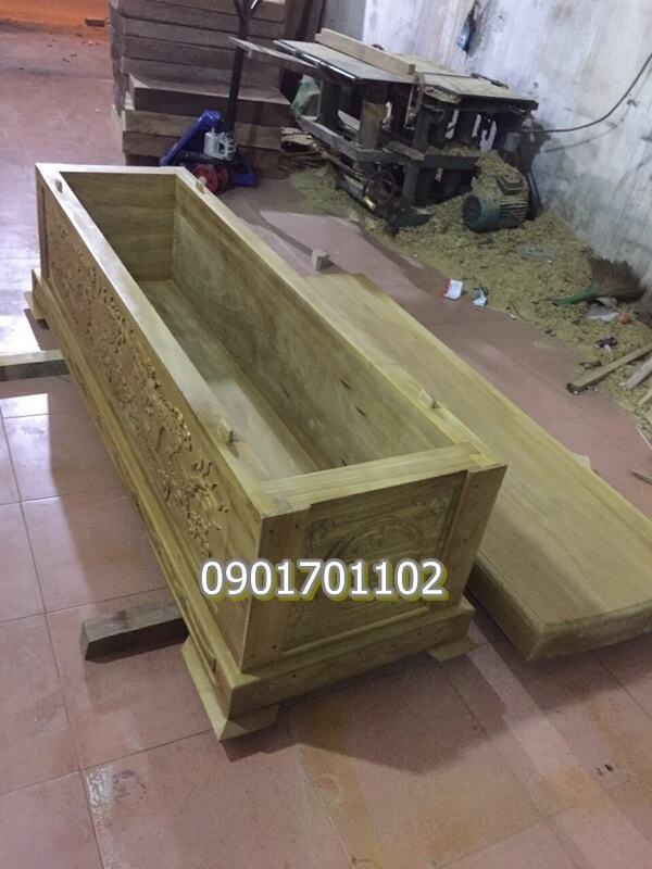 Áo quan (quan tài) gỗ vàng tâm loại tốt-2