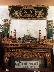 Đóng bàn thờ đẹp theo yêu cầu chất lượng, uy tín