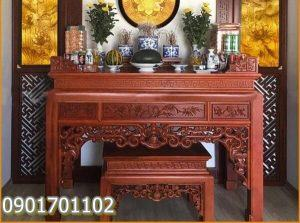 Kích thước bàn thờ gia tiên thường dùng