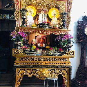 Thiết kế bàn thờ Phật và bàn thờ gia tiên tại gia