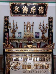 Hoành phi câu đối gỗ làng nghề Sơn Đồng