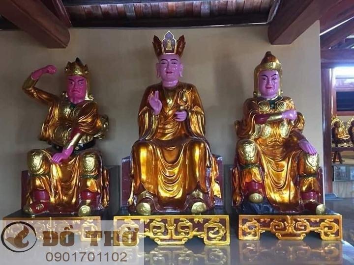 Làm mới tượng thờ, tượng Phật, sơn son thếp vàng-1