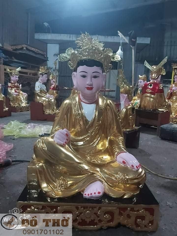 Làm mới tượng thờ, tượng Phật, sơn son thếp vàng-15