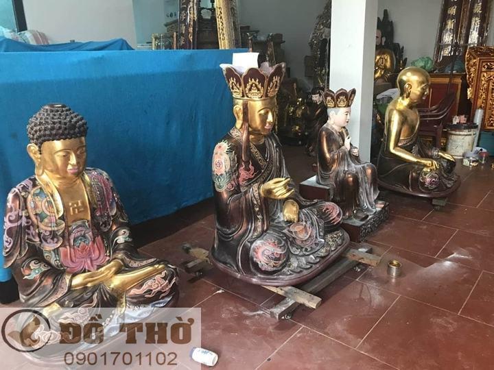 Làm mới tượng thờ, tượng Phật, sơn son thếp vàng-18