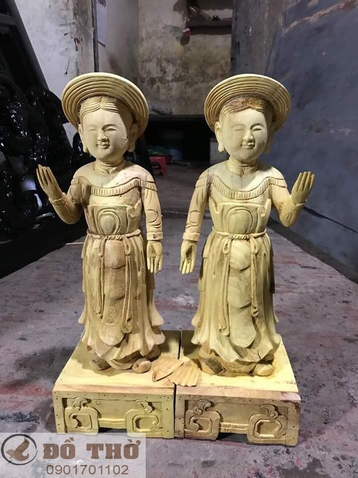 Làm mới tượng thờ, tượng Phật, sơn son thếp vàng-19