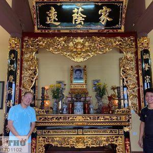 Thiết kế gian thờ gia tiên cho gia chủ nhà báo Phan Đăng