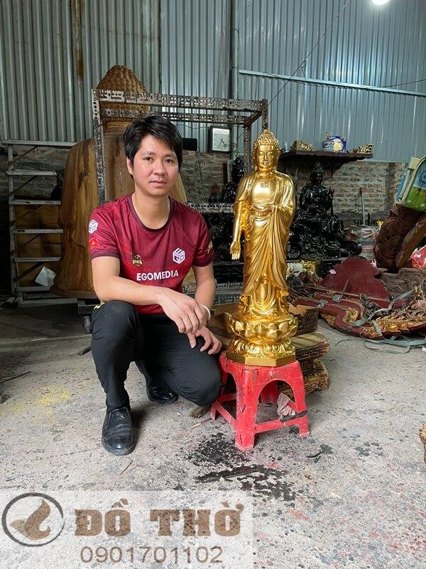Tượng Phật A di đà tiếp dẫn-1